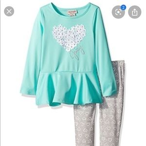 Juicy Couture Blue & Gray Heart Outfit